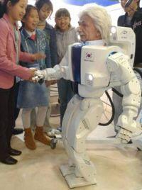 Robot con cara de Einstein