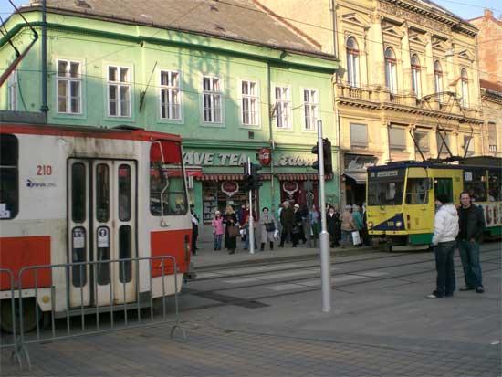 Conversación entre tranvías